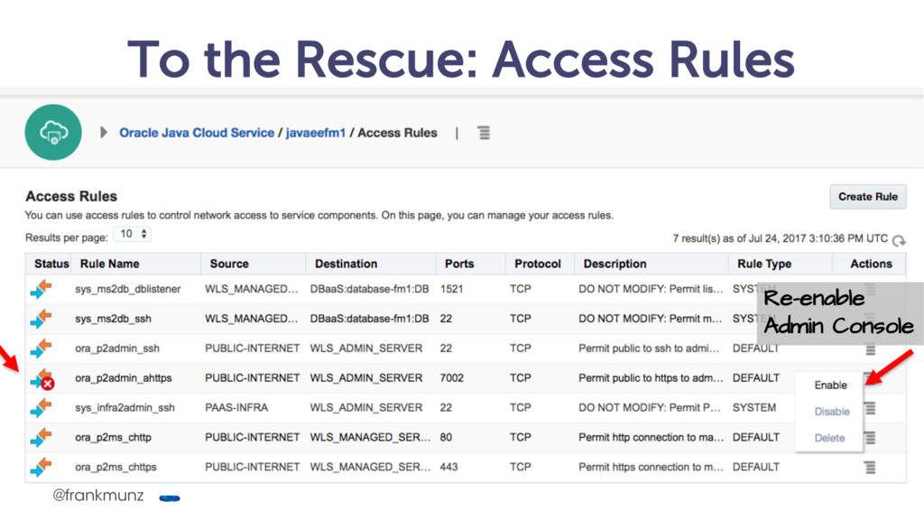 To the Rescue: Access Rules @frankmunz Re-enabl...