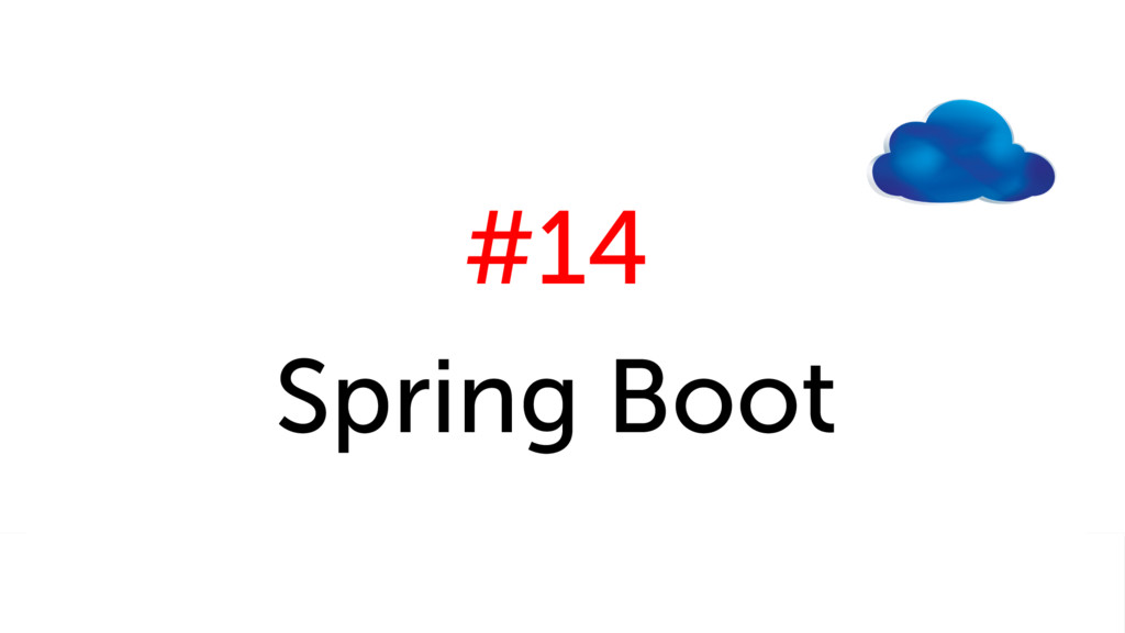 #14 Spring Boot