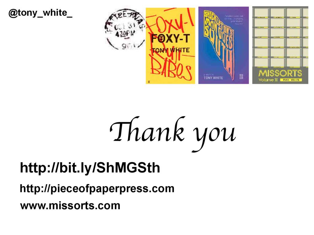 Thank you http://pieceofpaperpress.com www.miss...