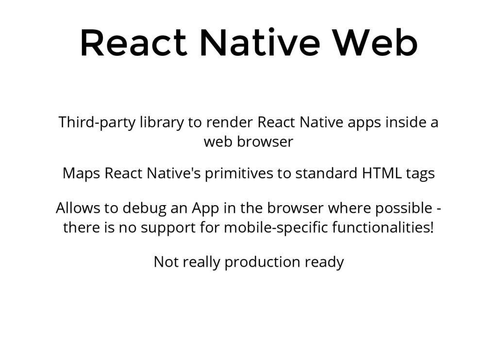 React Native Web Third-party library to render ...