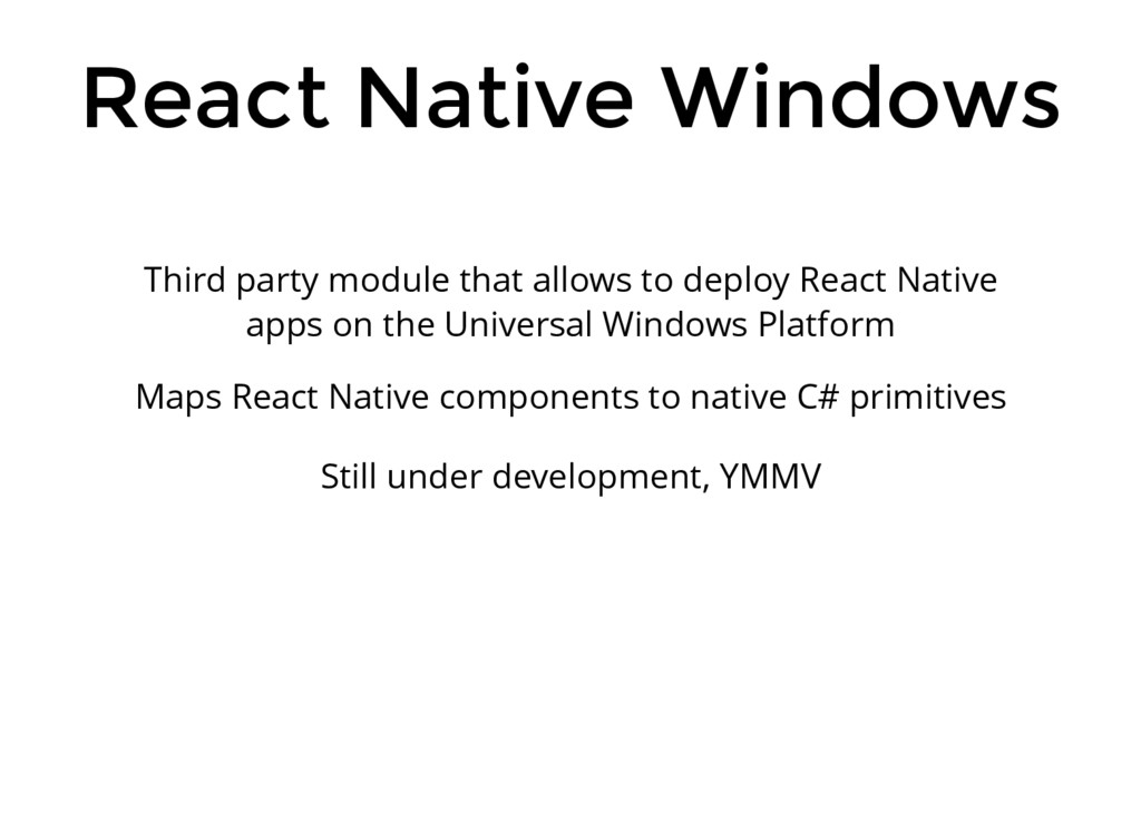 React Native Windows Third party module that al...