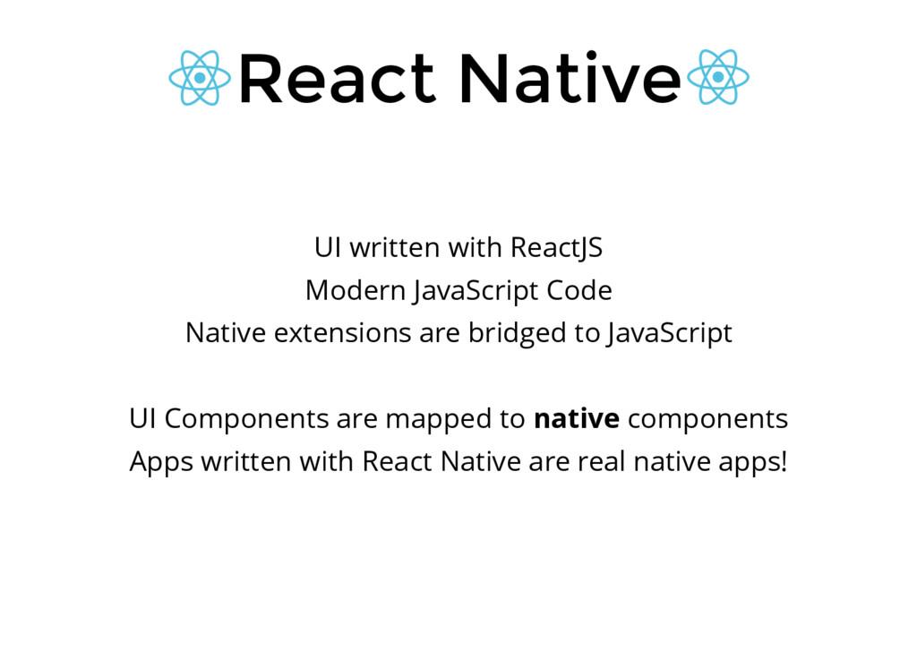 React Native UI written with ReactJS Modern Jav...