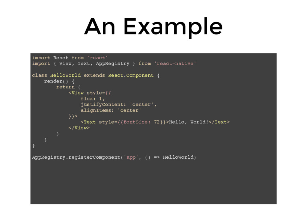 An Example import React from 'react' import { V...