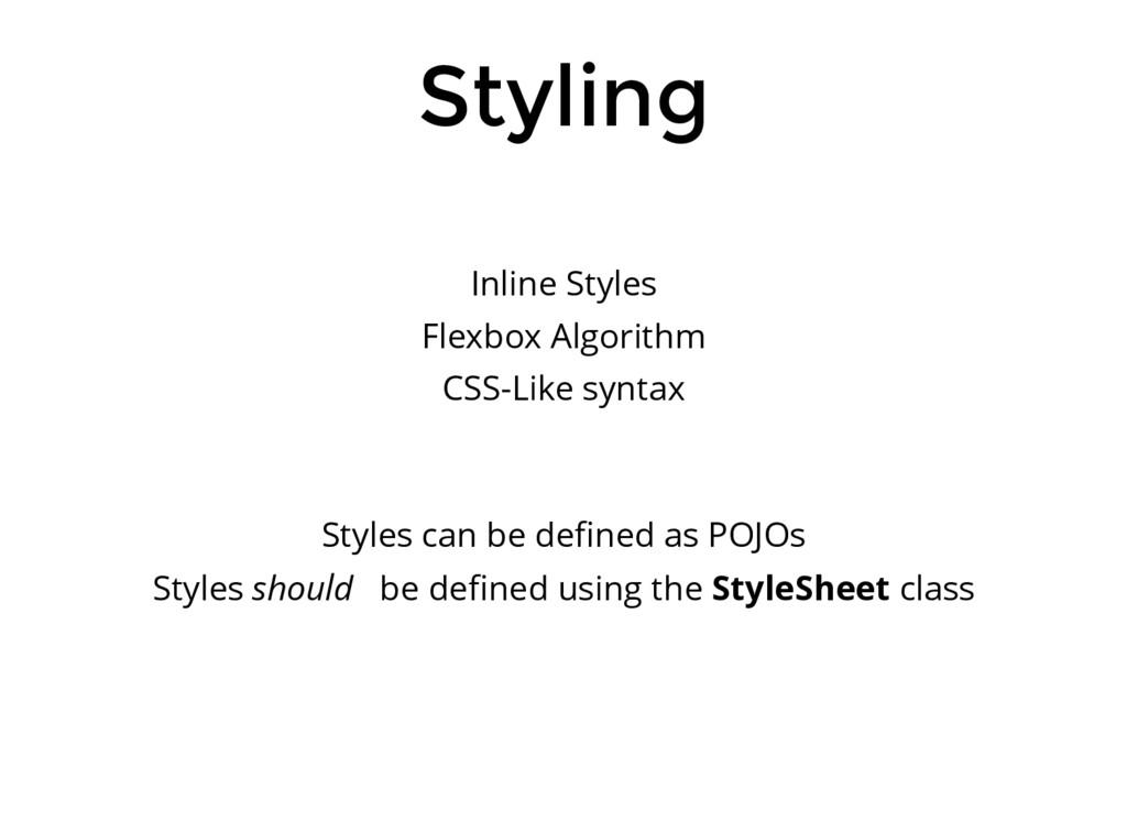 Styling Inline Styles Flexbox Algorithm CSS-Lik...