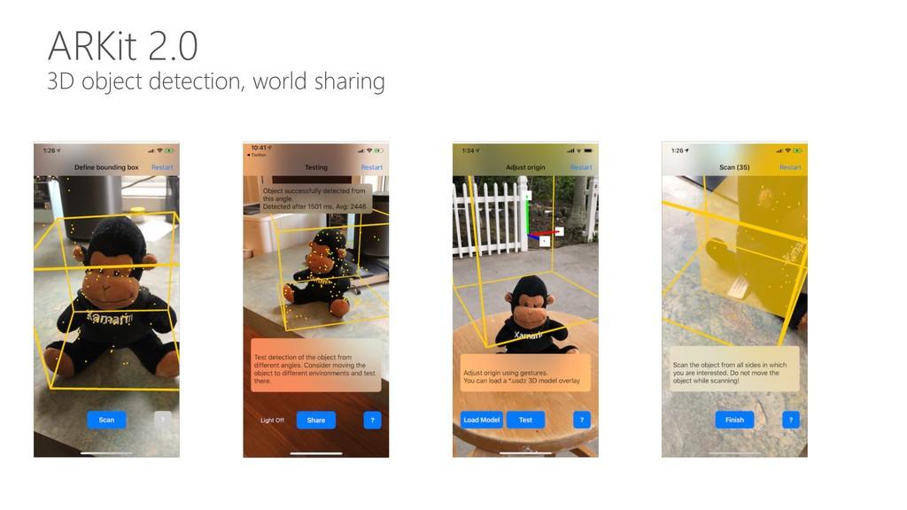ARKit 2.0 3D object detection, world sharing