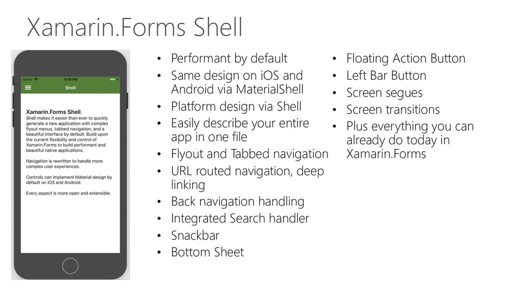 Xamarin.Forms Shell • Performant by default • S...