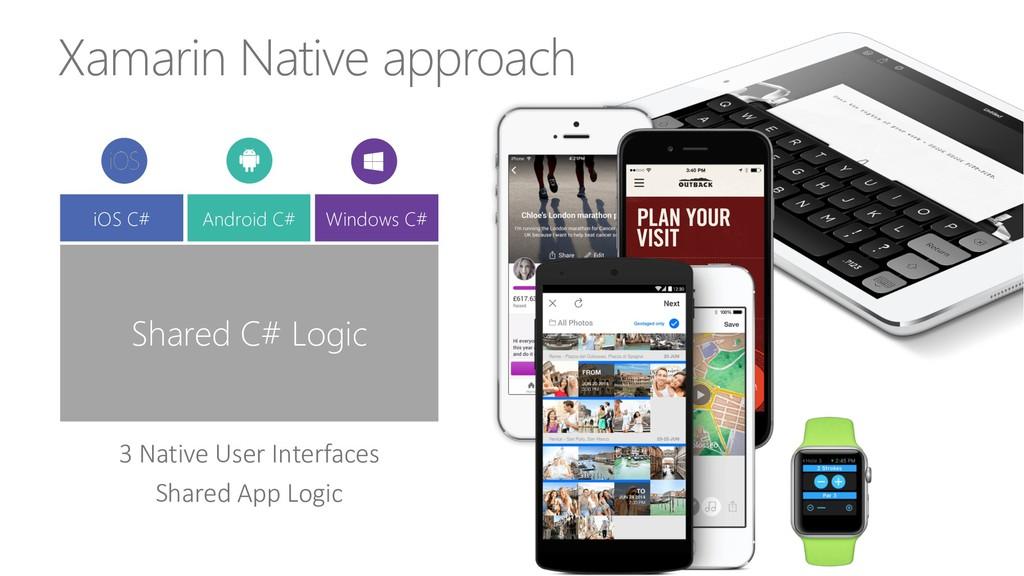 Xamarin Native approach 3 Native User Interface...