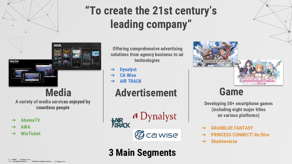"""""""To create the 21st century's leading company"""" ..."""