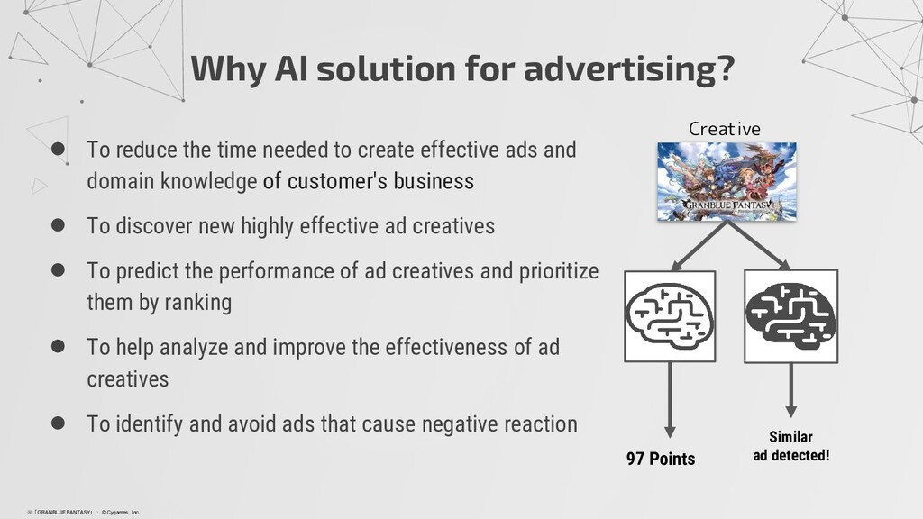 Why AI solution for advertising? ● To reduce th...