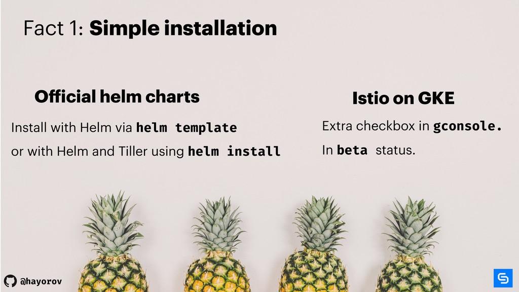 @hayorov @hayorov Fact 1: Simple installation O...