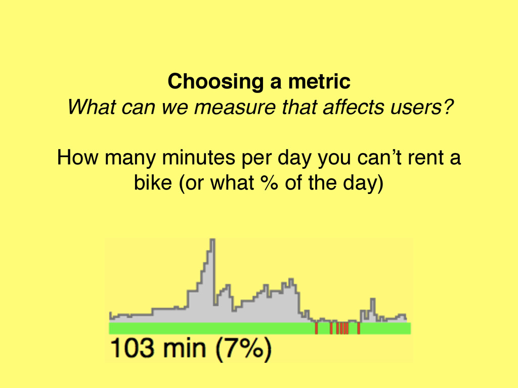 Choosing a metric What can we measure that affe...