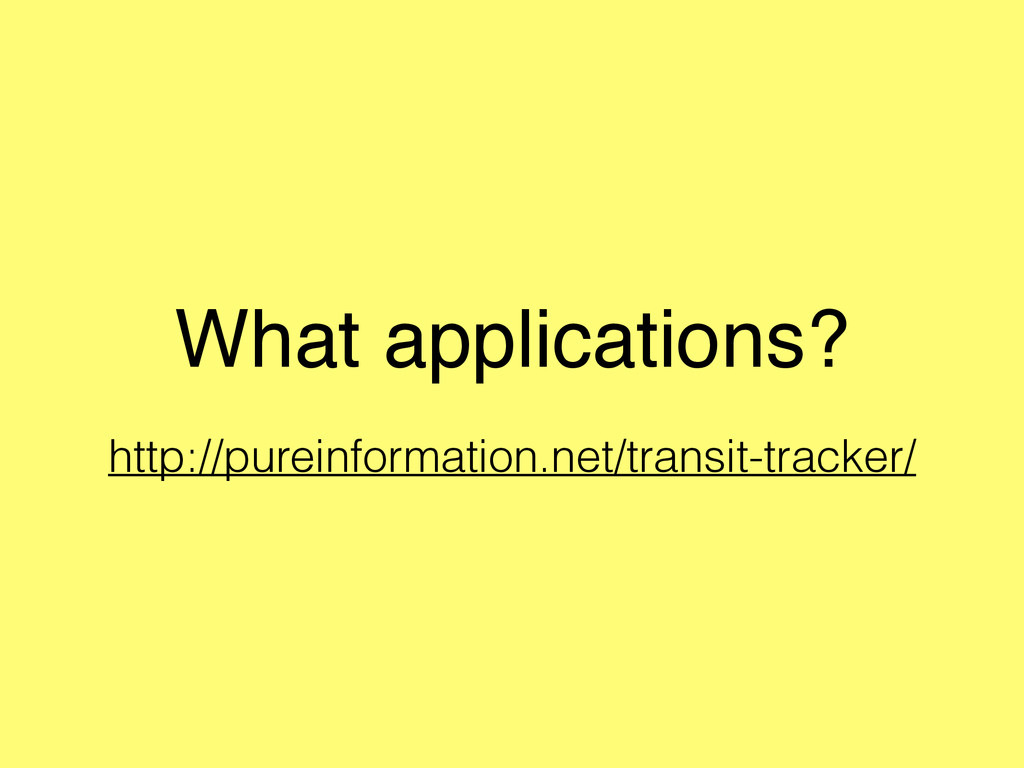 What applications? http://pureinformation.net/t...