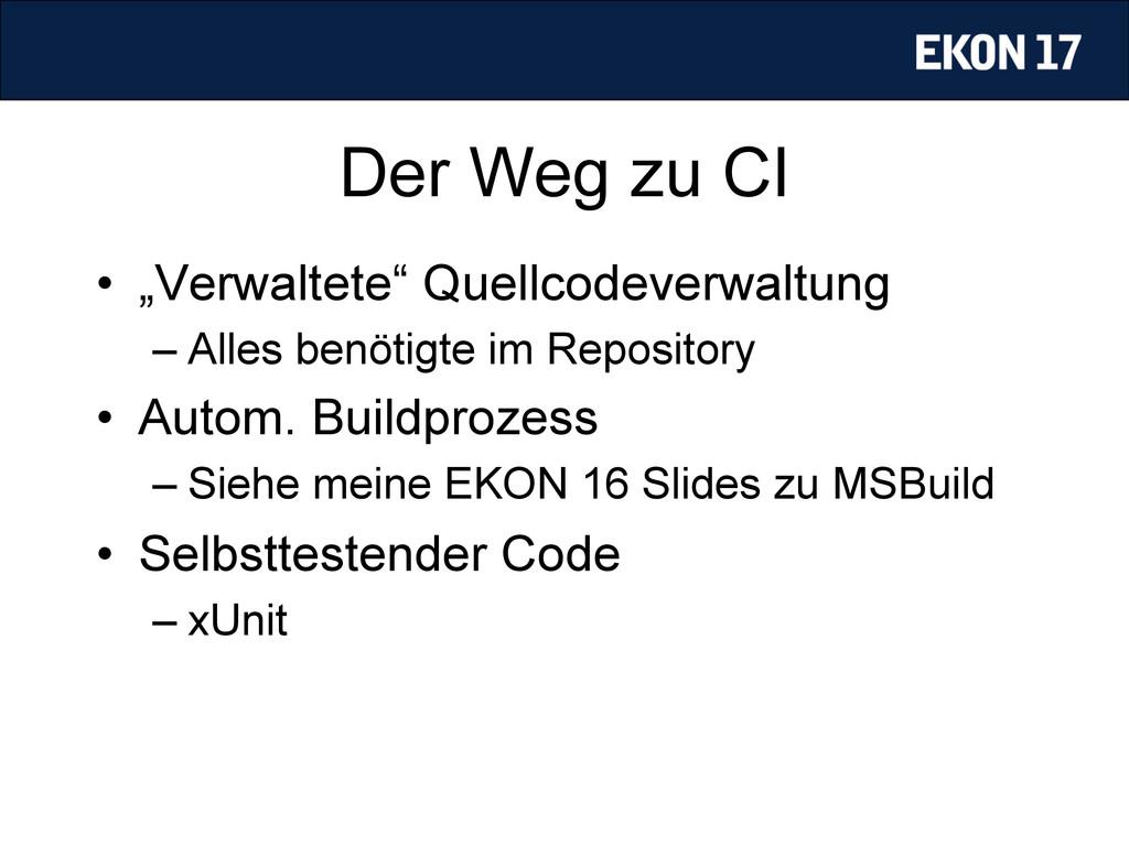 """Der Weg zu CI • """"Verwaltete"""" Quellcodeverwaltu..."""