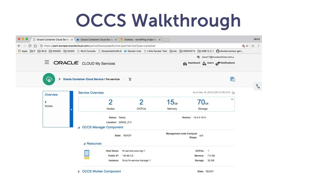 OCCS Walkthrough