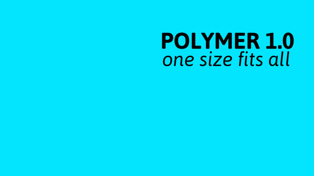 POLYMER 1.0 one size fits all