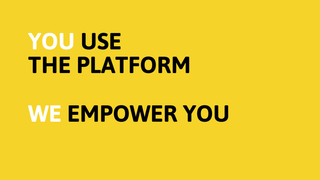YOU USE