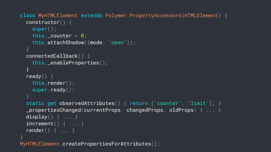class MyHTMLElement extends Polymer.PropertyAcc...