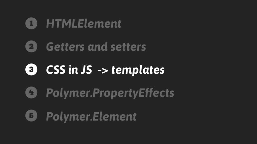 HTMLElement Getters and setters CSS in JS -> te...