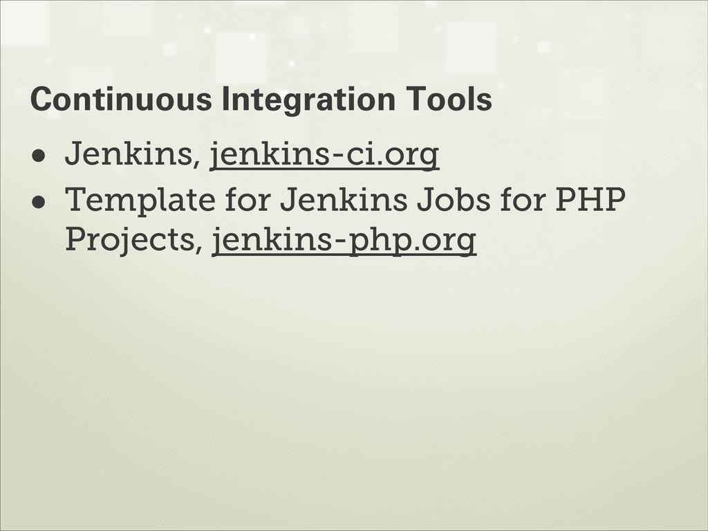 • Jenkins, jenkins-ci.org • Template for Jenkin...