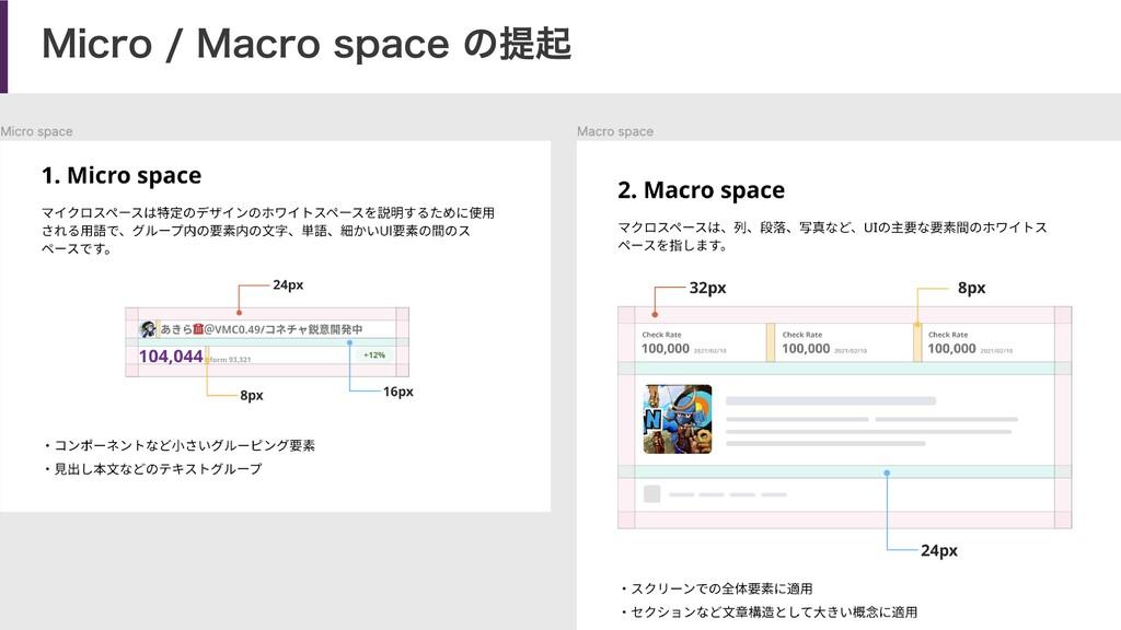 Micro / Macro space の提起