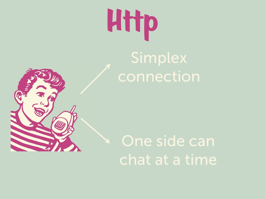 Http Simplex connection One side can chat at a ...