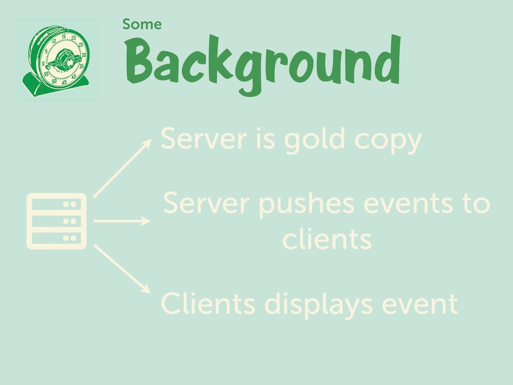 Background Some Server is gold copy Server push...