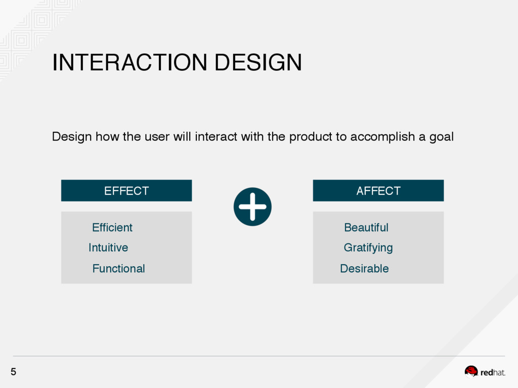 INTERACTION DESIGN 5 Design how the user will i...