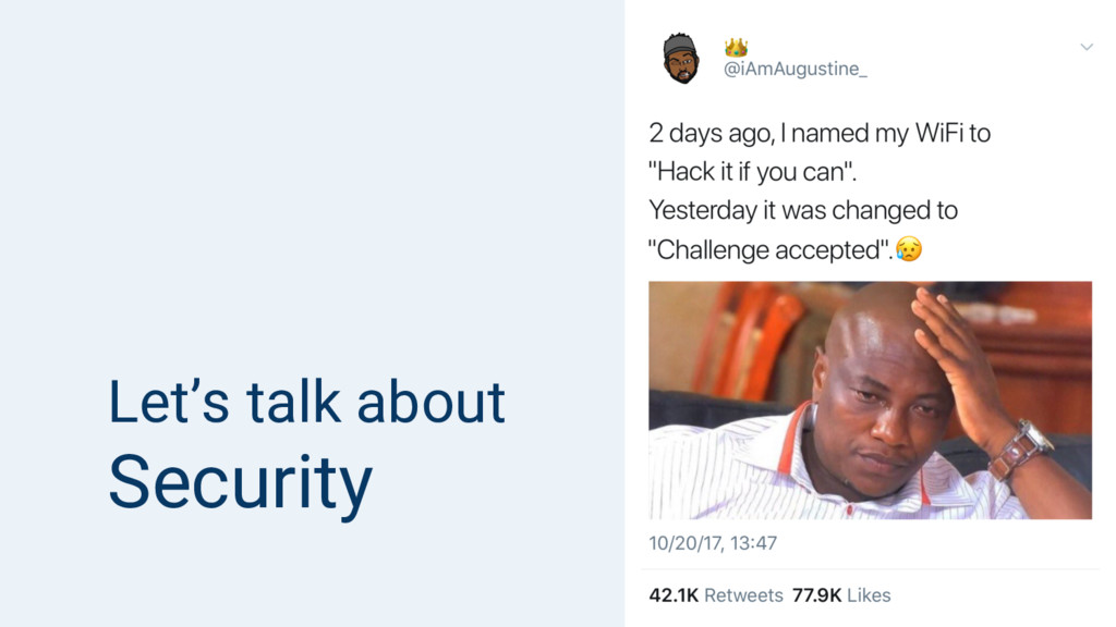 Let's talk about Security
