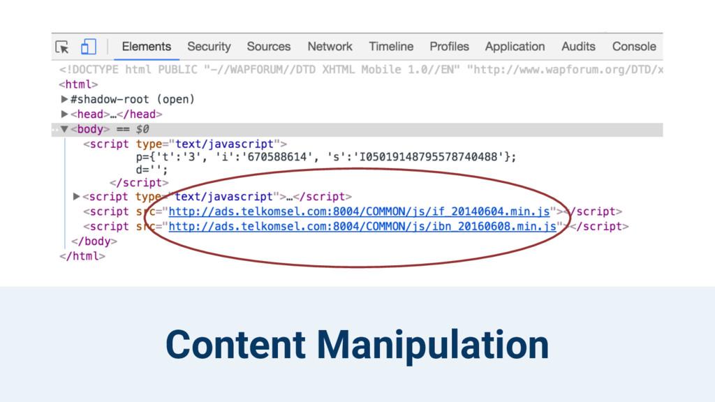 Content Manipulation