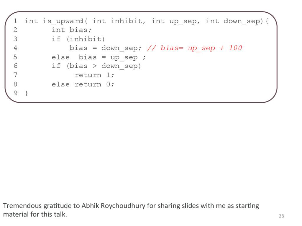 1 int is_upward( int inhibit, int up_sep, int ...