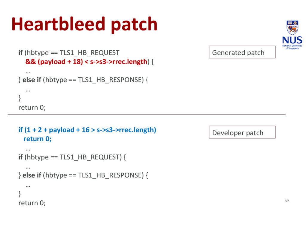 Heartbleed patch 53 if (hbtype == TLS1_HB_REQUE...