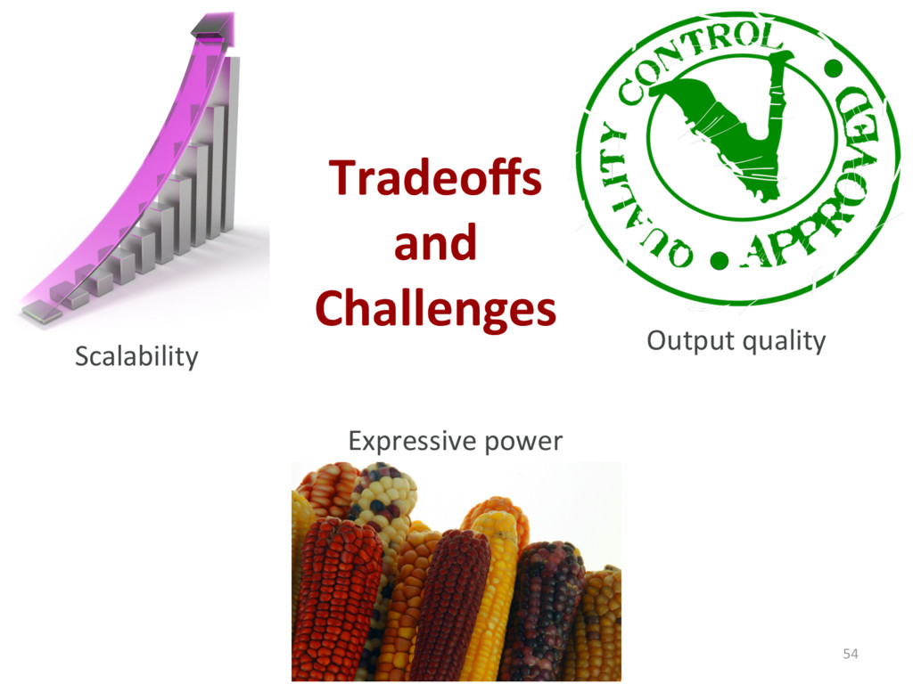 Tradeoffs and Challenges 54 Scalability Output q...