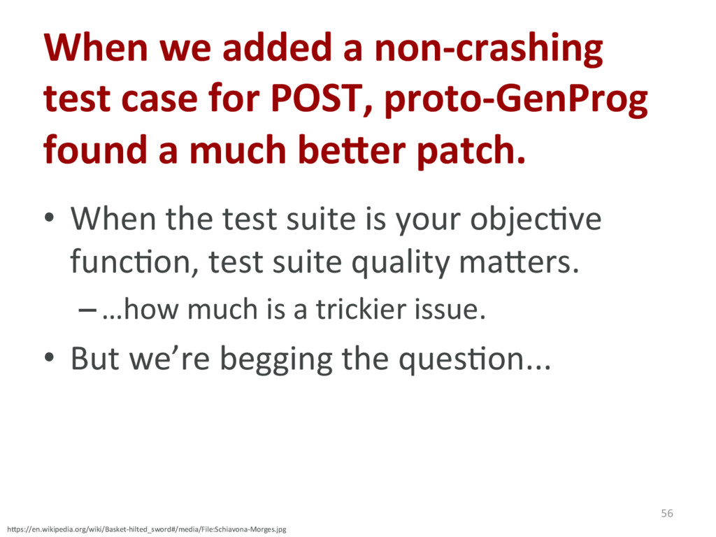 When we added a non-crashing test case for POST...