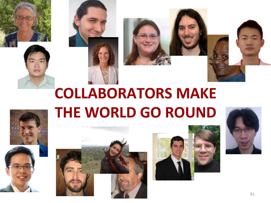 COLLABORATORS MAKE THE WORLD GO ROUND 81