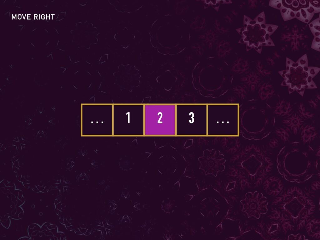 1 2 3 … … MOVE RIGHT