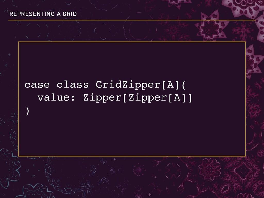 case class GridZipper[A]( value: Zipper[Zipper...