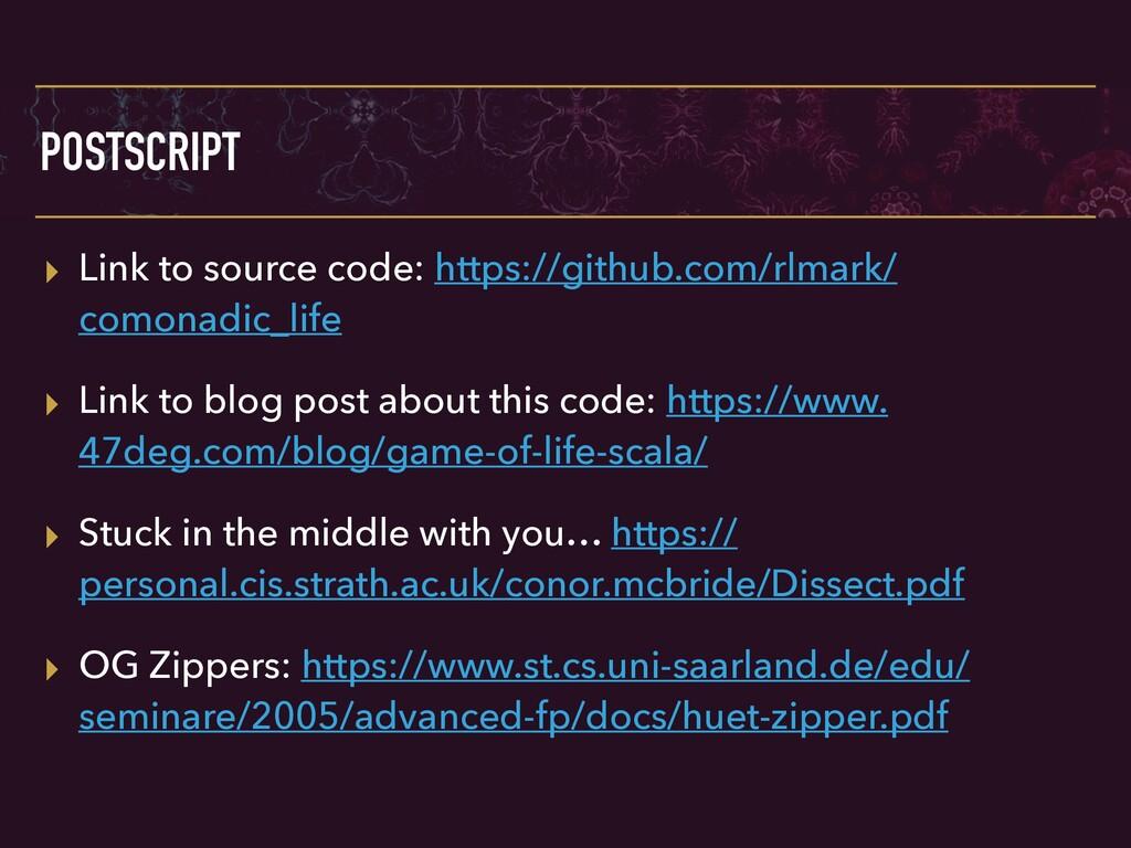 POSTSCRIPT ▸ Link to source code: https://githu...