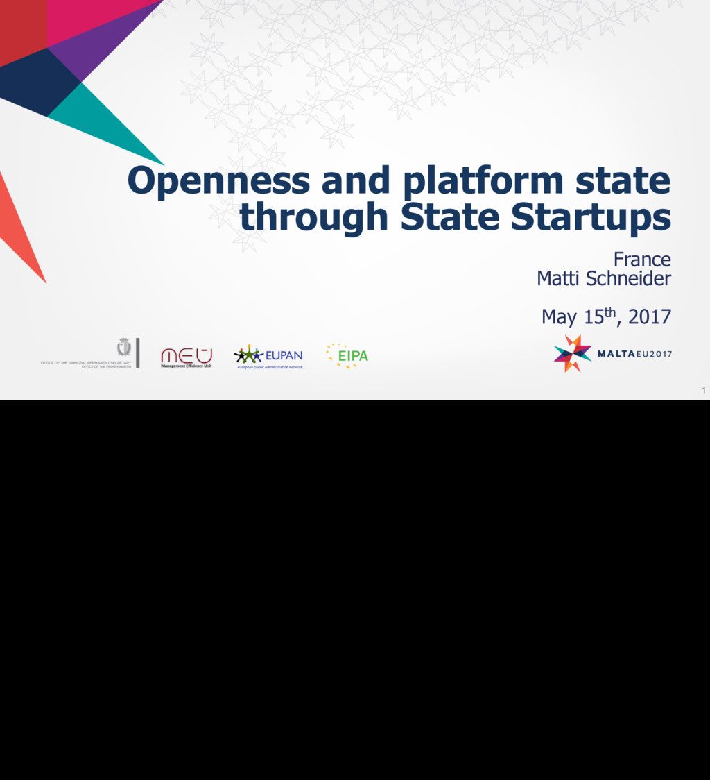 Openness and platform state through State Start...