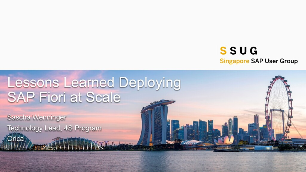 Public Lessons Learned Deploying SAP Fiori at S...