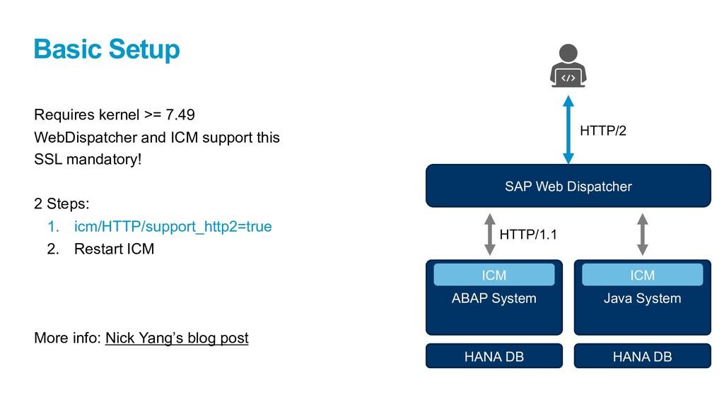 Basic Setup Requires kernel >= 7.49 WebDispatch...