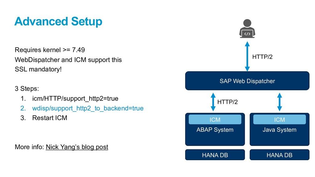 Advanced Setup Requires kernel >= 7.49 WebDispa...