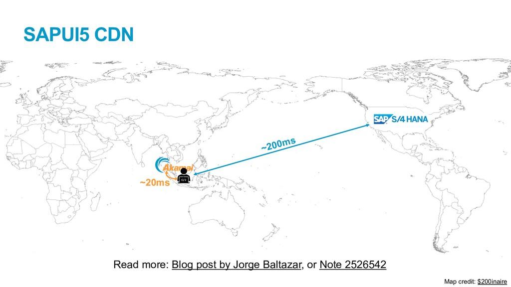 SAPUI5 CDN Read more: Blog post by Jorge Baltaz...