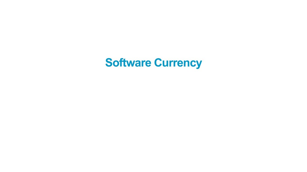 Software Currency