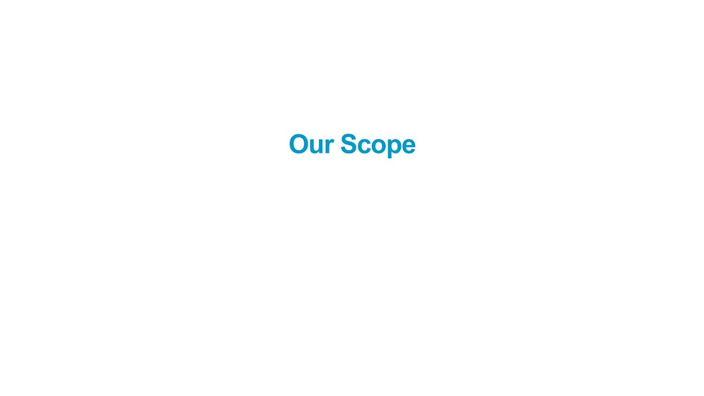 Our Scope