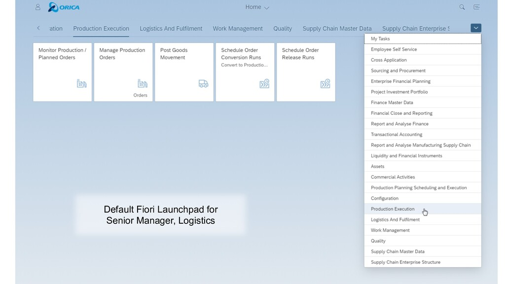 Sample Launchpad Default Fiori Launchpad for Se...
