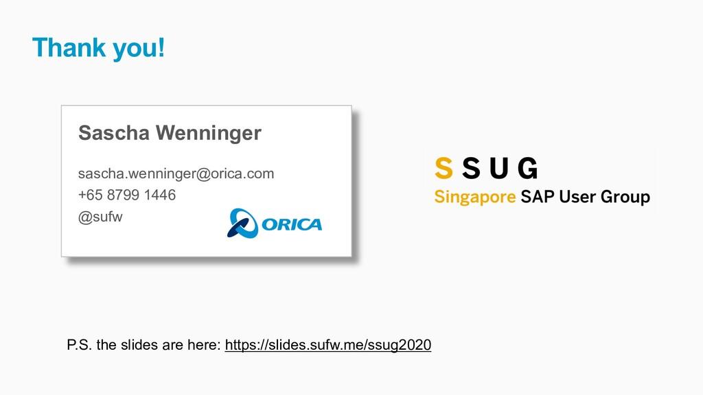 Sascha Wenninger sascha.wenninger@orica.com +65...
