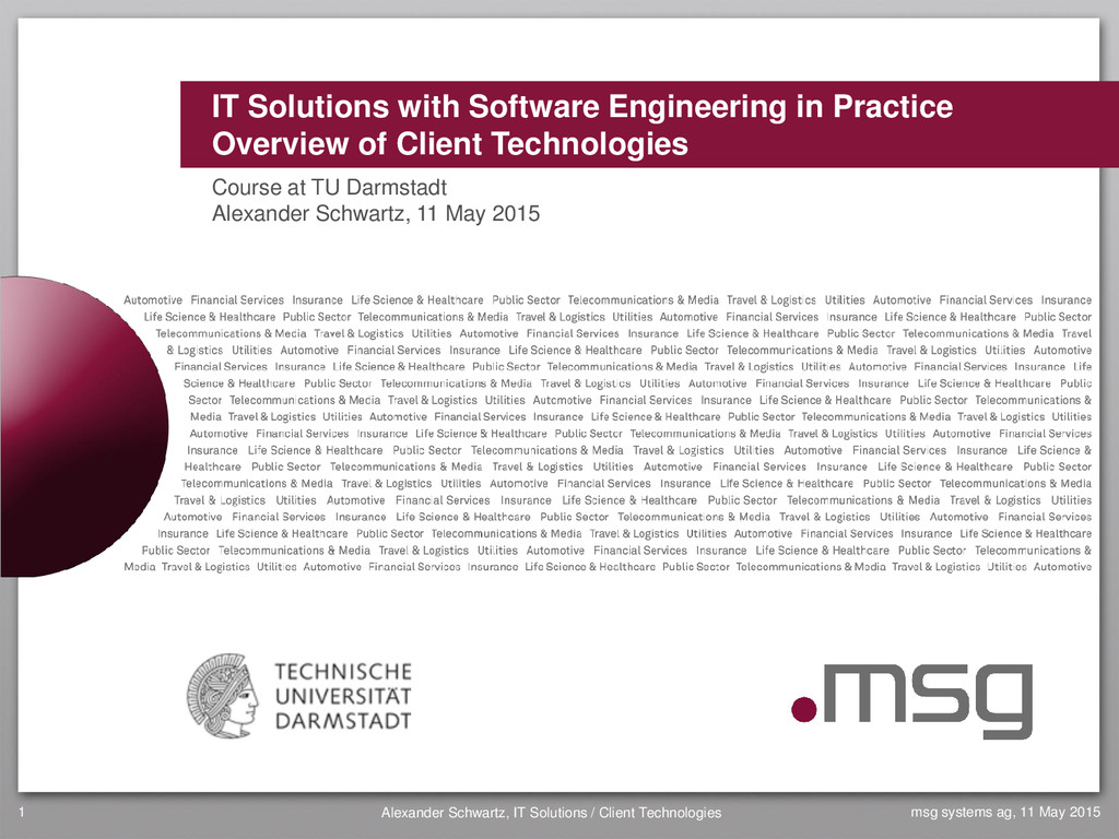 IT Solutions with Software Engineering in Pract...