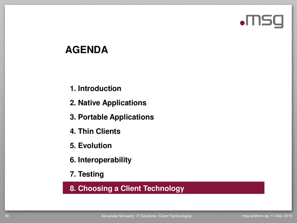 AGENDA 1. Introduction 2. Native Applications 3...