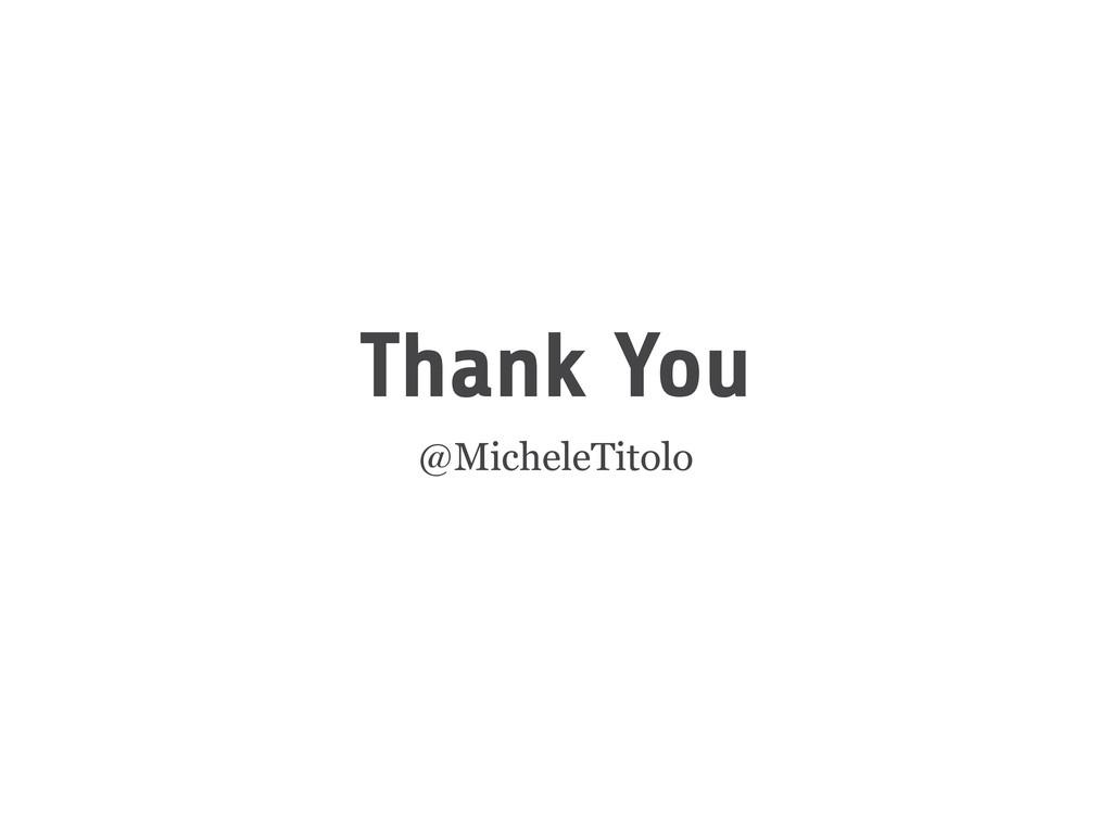 Thank You @MicheleTitolo