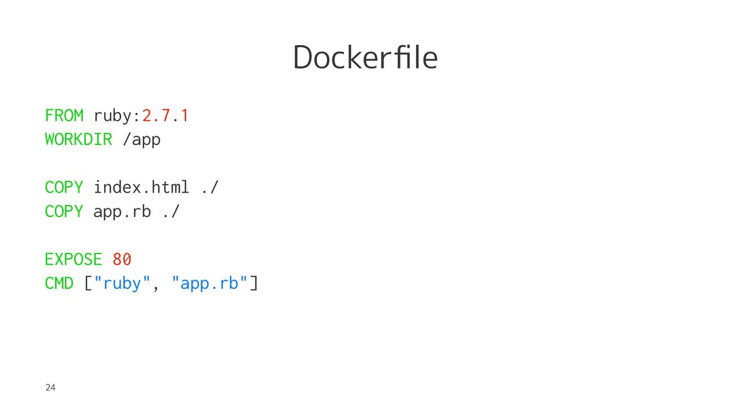 Dockerfile FROM ruby:2.7.1 WORKDIR /app COPY ind...